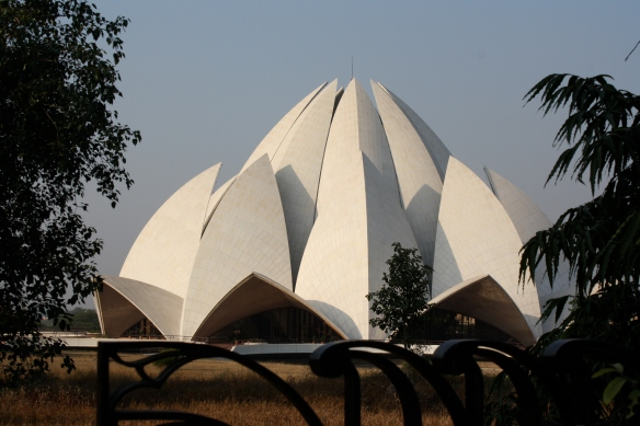 The Bahá'í Lotus Temple that we only saw from the outside but which is very beautiful