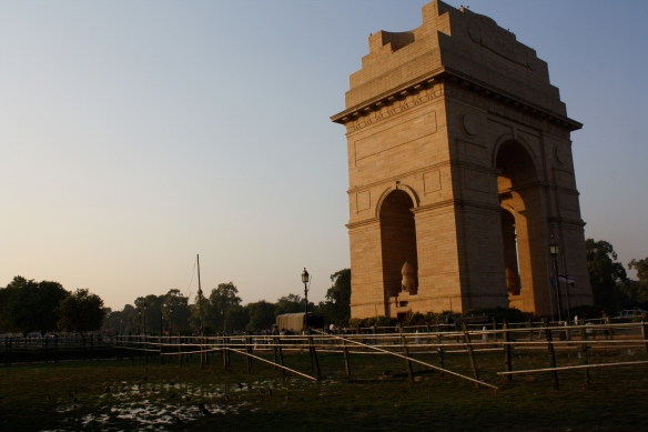 The India Gate which commemerates the Indian solidgers who died in WWI